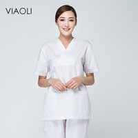 Viaoli White Medical Scrub Sets Hospital Uniforms Doctors Scrub Suits Surgical Clothes Uniform Medical Fashion Lab