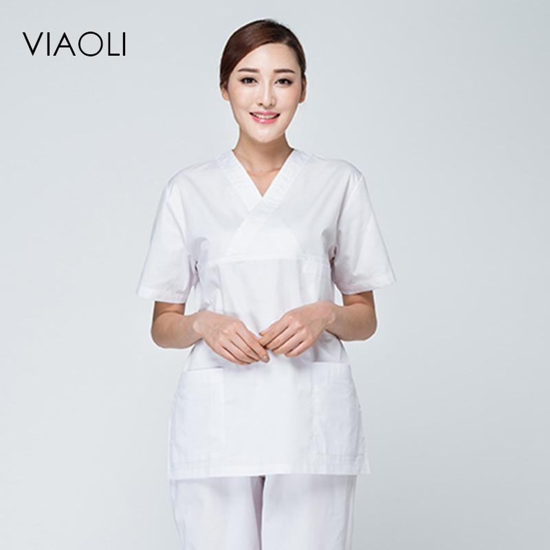 Scrub Sets 2018 Doctor Nurse Uniform Scrub Sets Medical Surgical Clothing Hospital Dental Clinic Beauty Salon Workwear Clothes High Quality Reputation First