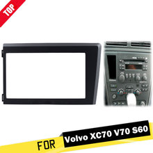 цена на LONGSHI 2 Din Car Radio Fascia for Volvo XC70 V70 S60 1998-2004 Stereo Plate Trim Kit Panel Dash CD DVD Frame 2din
