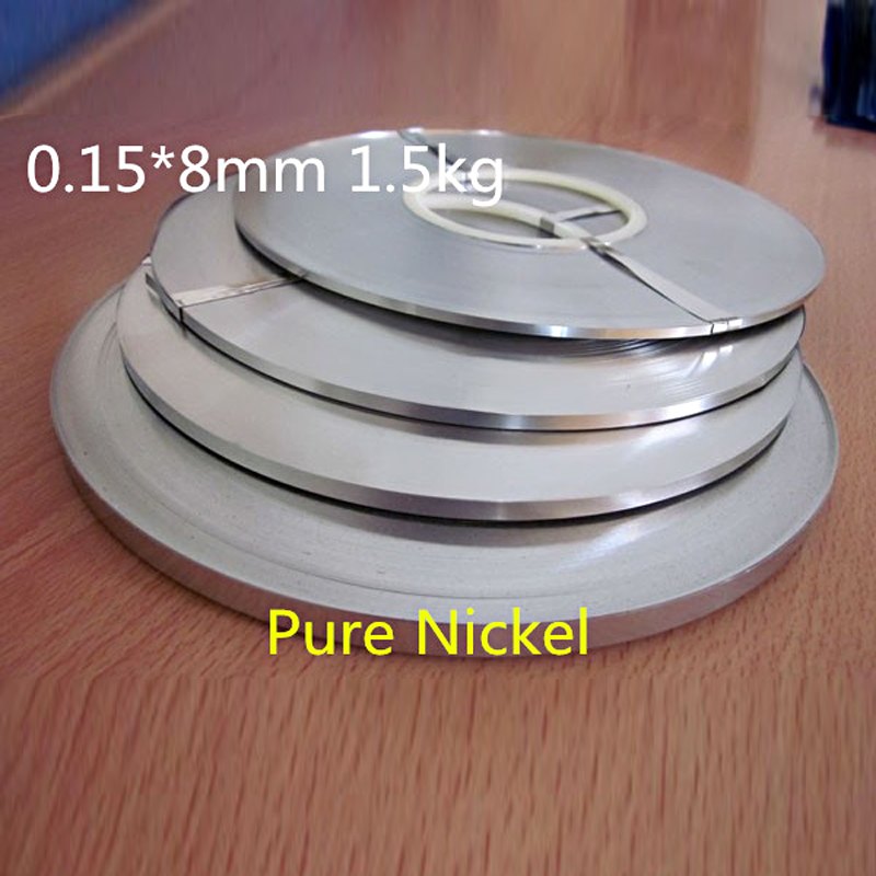 High Quality! Pure Nichel 99.96% Battery Pure Nickel Strip Cell Connector Battery Pure Nickel Plate 0.15*8mm 1.5kg