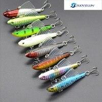 Otto confezioni di fishing lure hard bait VIB con immersioni girevole jig wobbler lure ala richiamo e otto colori per scegliere