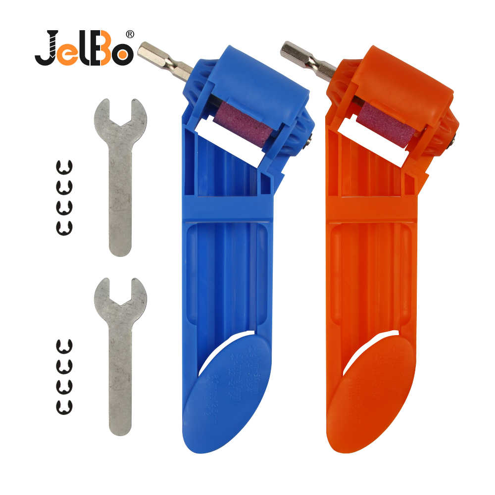 JelBo Portable Drill Grinder Bit Sharpener Twist Drill Grinding Wheel Machine Power Tool Blue/Orange For Electric Drill