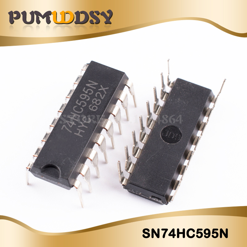 10PCS SN74HC595N DIP16 SN74HC595 DIP 74HC595N 74HC595 New And Original IC