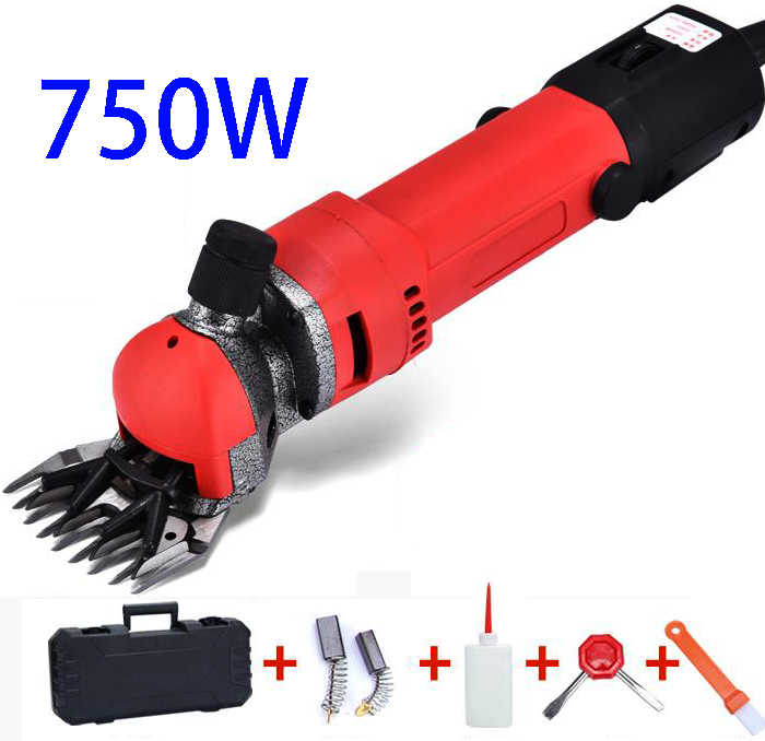 750W 220V Elektrische Schapen Scheren Machines Supplies Clipper Schapen Geiten Alpaca Scharen Aanpassing Pusher