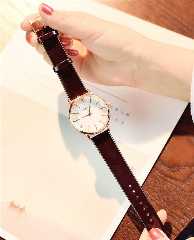 55c1b785c84 Mulheres Relógios simples e elegante branco quartz Janela Dial Tipo de  Material   Vidro