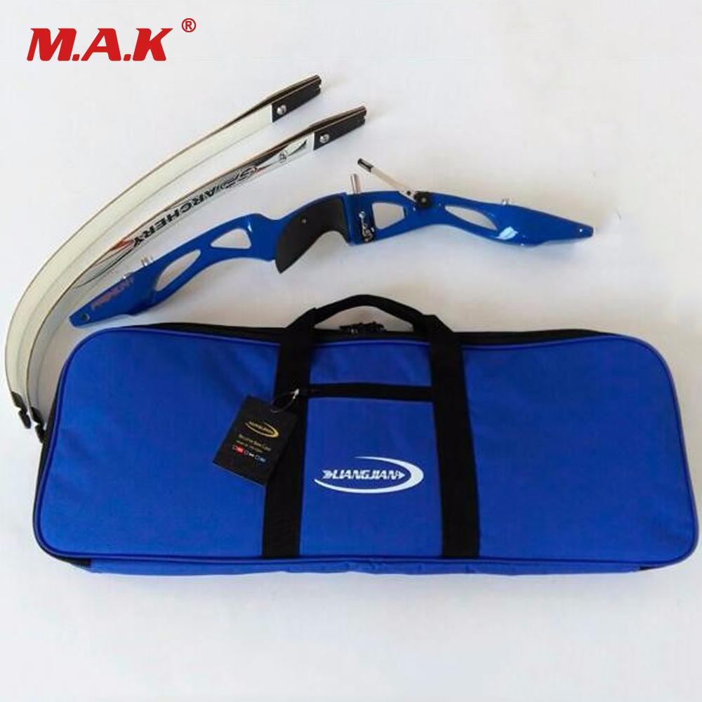 High Quality Blue Easy Carrying Bow Case For Recurve Bow Archery Recurve Bow Bag  Inner Soft Plush Fabric Bow Bag Outdoor Sport niko black 21 23 26 ukulele bag silver edge nylon soprano concert tenor soft case gig bag 5mm thick sponge