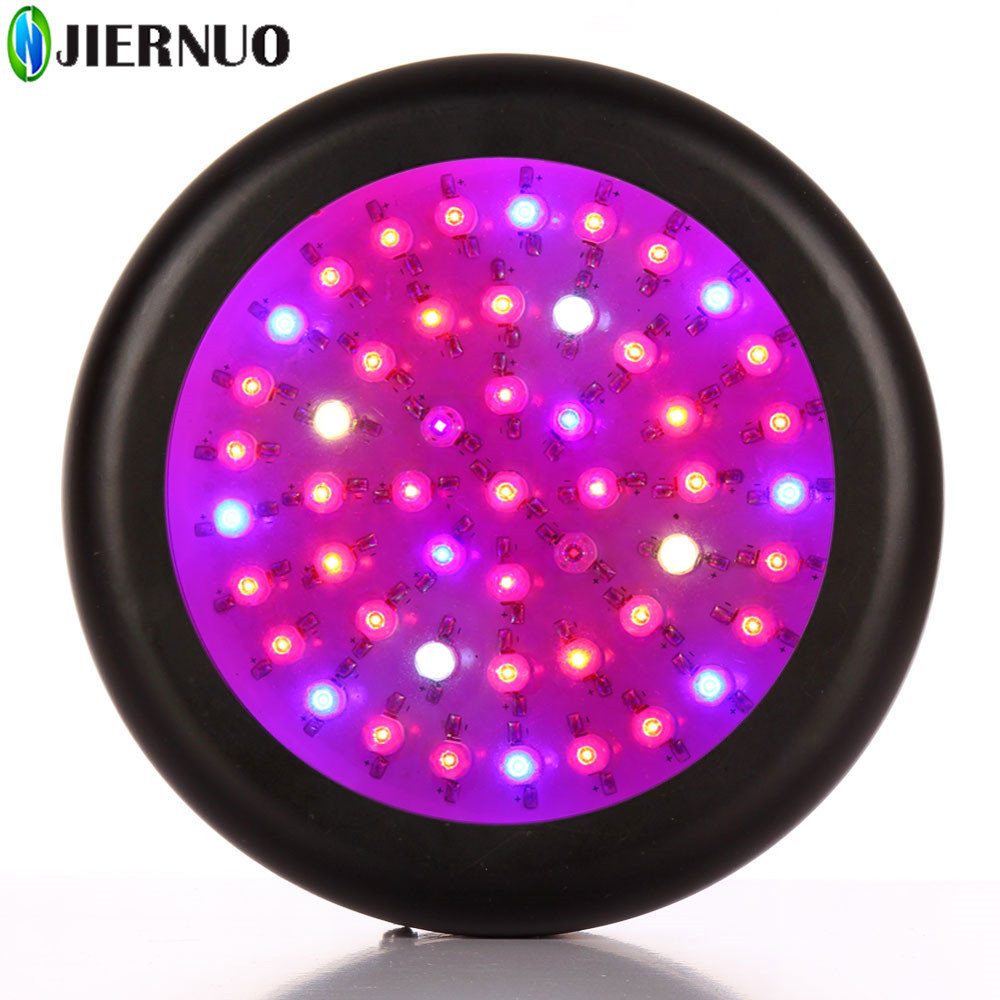 JIERNUO 150W UFO LED Grow Light Full Spectrum 50*3W Red/Blue/UV/IR LED Bulbs plant grow light for indoor plant UFO LED grow lamp 150w mini ufo led plant grow light emitting diode full spectrum grow tent led lamp for indoor dual veg hydroponics green house