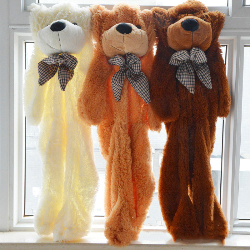 Teddy Bear Skin Shell Giant Unstuffed Empty Teddy Bear Bearskin Coat Soft Big Skin Shell Semi-finished Plush Toys Soft Kid Doll