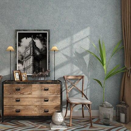 Купить с кэшбэком Simple Modern Plain Wallpaper Gray Living Room Bedroom Study TV Background Solid Color Non-woven Wall Paper Roll