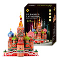3D Big Jigsaw Puzzle Model Toy Diy 3D Puzzle Model Vassili Cathedral Construction Educational Toy
