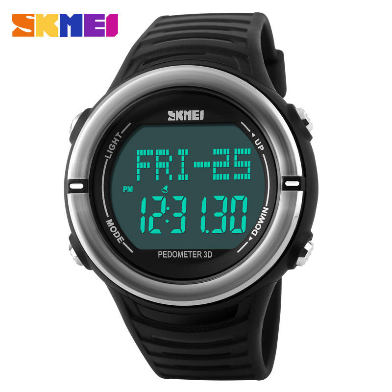 Heart Rate Monitor Sport Watch Men Digital LED SKMEI 1111 Alarm Chronograph Waterproof Back Light Stop