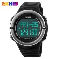 Heart rate monitorนาฬิกาสปอร์ตผู้ชายดิจิตอลled skmei 1111ปลุกโครโนกราฟกันน้ำไฟพื้นหลังหยุดนาฬิกาอัตโนมัติวั...