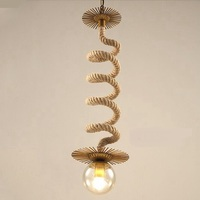 American iron industrial glass pendant lamp loft retro enchants bean wave network Cafe single head rope hanging lamp ya72920