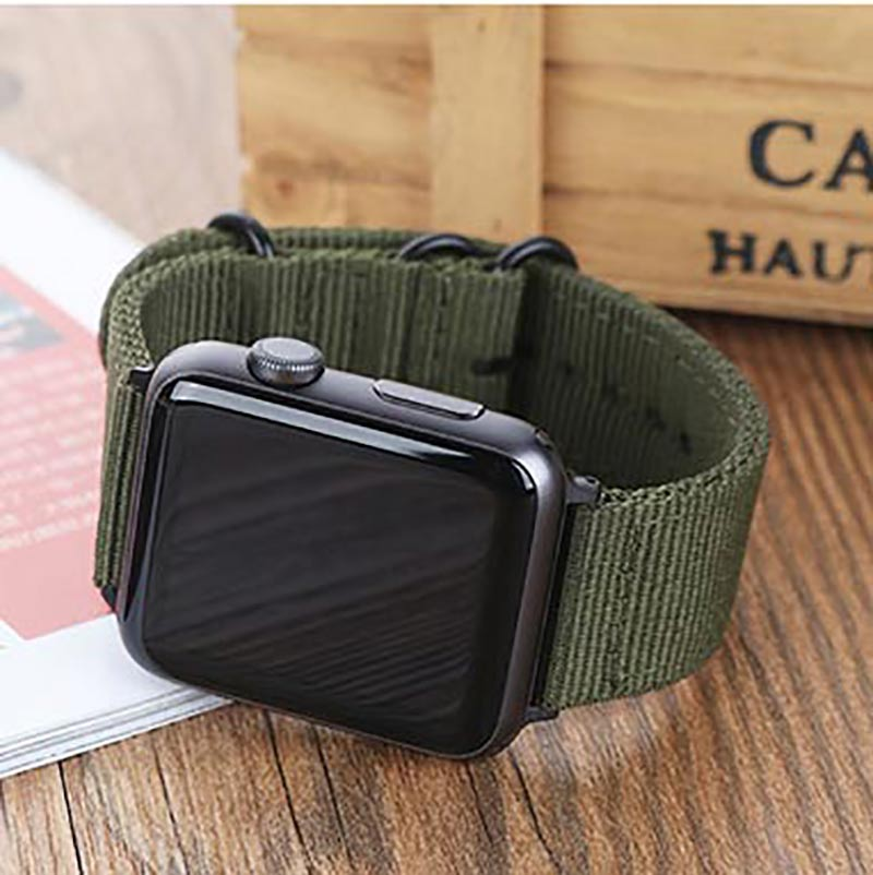 2018 green Hot sale Nylon strap for Apple Watch Band Series 3/2/1 sport leather bracelet 42mm 38mm strap for iwatch band eastar genuine leather for iwatch bracelet apple watch band 42mm 38mm sport bracelet for series 1