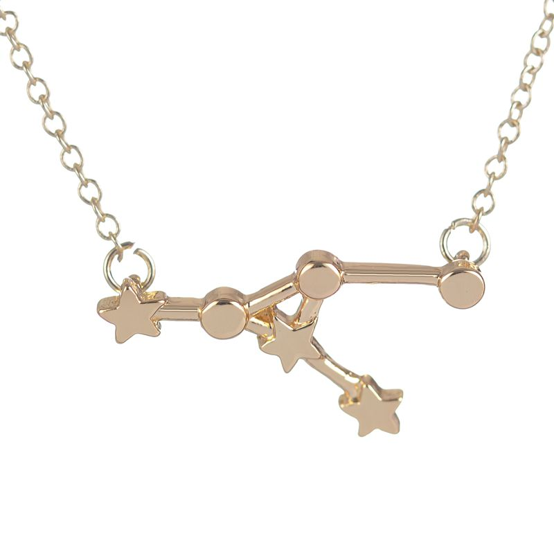 10PCS Unique <font><b>Sex</b></font> <font><b>Girl</b></font> Necklace Cancer Zodiac Sign Astrology Necklace Constellation Jewelry Star Sign Necklace for Women XL212 image