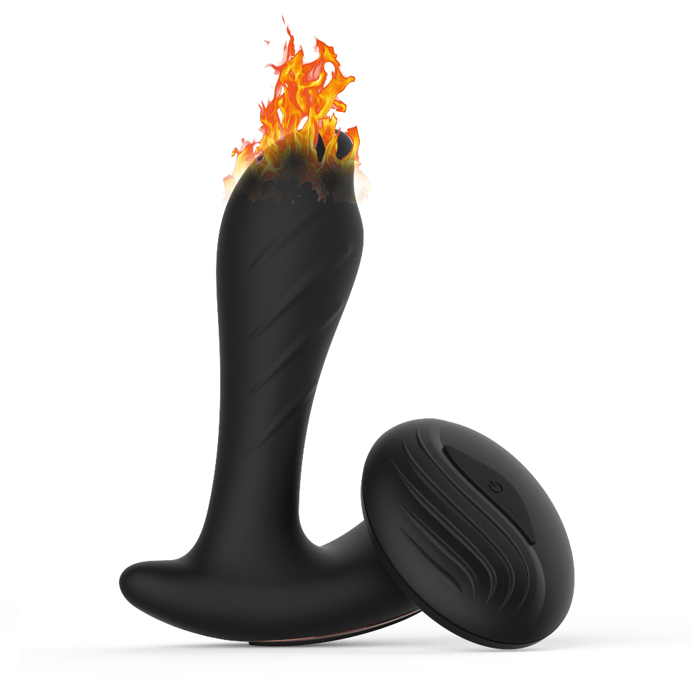 Wireless Remote Heating Male Prostate Massager Anal Plug G-spot Stimulation USB Charging Dildo Vibrator Anal Sex Toy for Men Gay 5 rotating 10 frequency vibrating heating wireless remote prostate massager g spot stimulation anal plugs anal vibrator sex toys