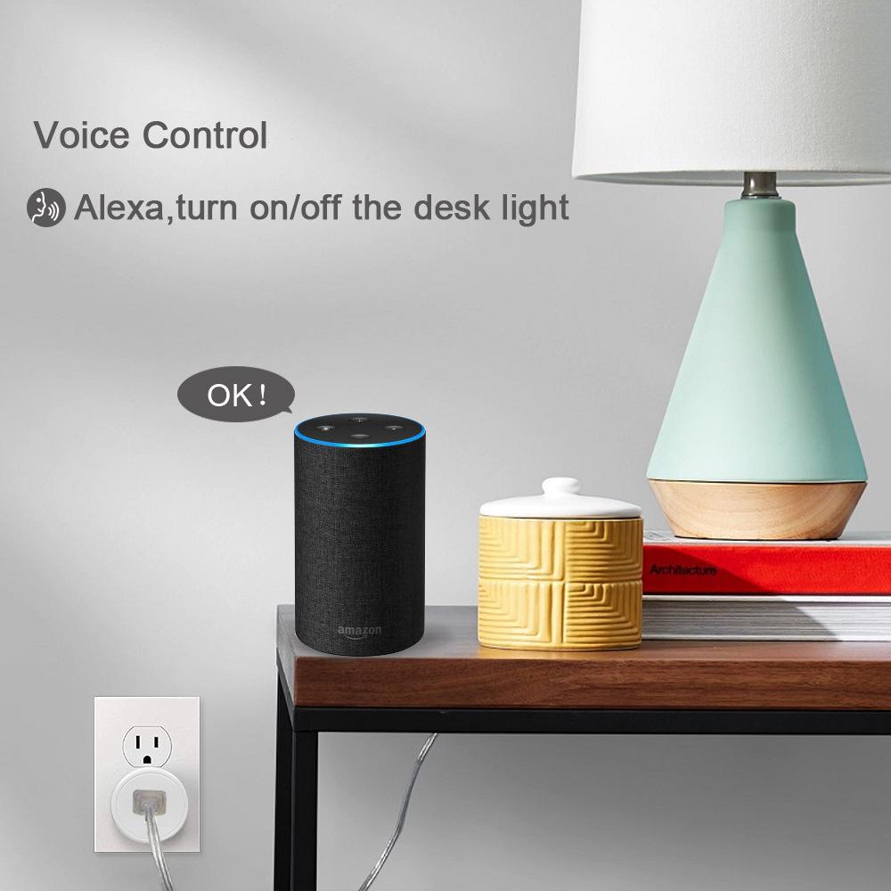 HTB1iI 7e.uF3KVjSZK9q6zVtXXaJ - FrankEver Mini US Wifi Plug with Surge Protector 110-240V Voice Control Smart Socket Work with Alexa Google Home Tuya APP