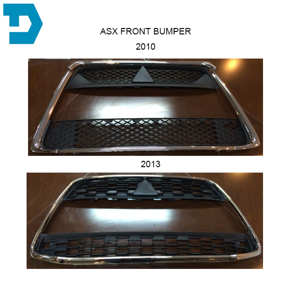 chrome grille FOR OUTLANDER SPORT bumper net FOR  ASX OE PARTS 2010 2011 2012 same as picture abs chrome front grille around trim for ford s max smax 2007 2010 2011 2012