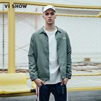 HIGH STREET Europe Street Armygreen Jacket Hip Hop Men Outwear VIISHOW New Brand Thin Jacket Men