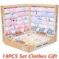 18pcs Cotton infant clothing set winter baby clothes newborn baby clothes boy girl baby clothing baby pajamas gift set TZ37