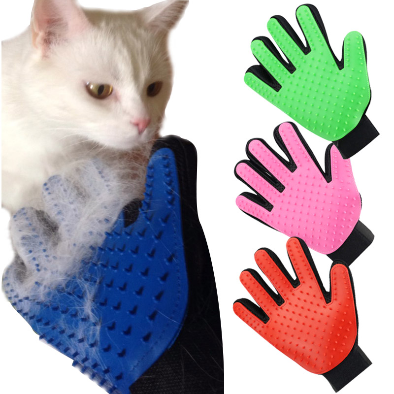 Nicrew Pet Hair Removal Brush Catnip Animal Hair Brush Finger Glove For Cat Grooming Massage Supply Cleaning Glove For Animal