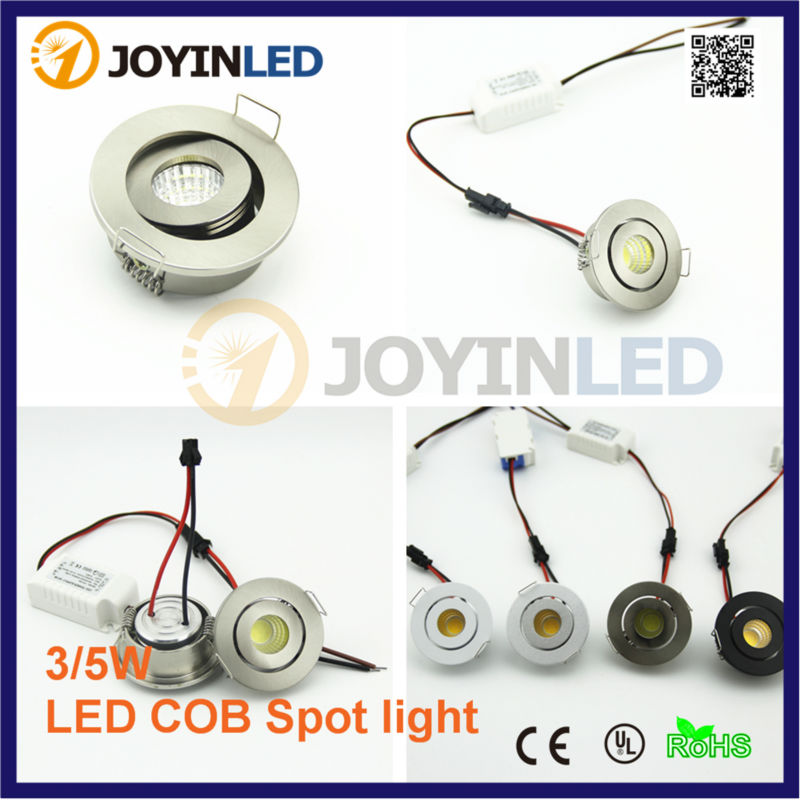 Mini cob downlight DC12V 3W recessed COB Ceiling spot lights for living room cabinet bedroom 6pcs set with driver cable connector cree 3w mini led cabinet downlight led recessed cabinet spot light white warm white