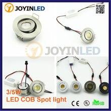 Mini cob downlight DC12V 3W recessed COB Ceiling spot lights for living room cabinet bedroom