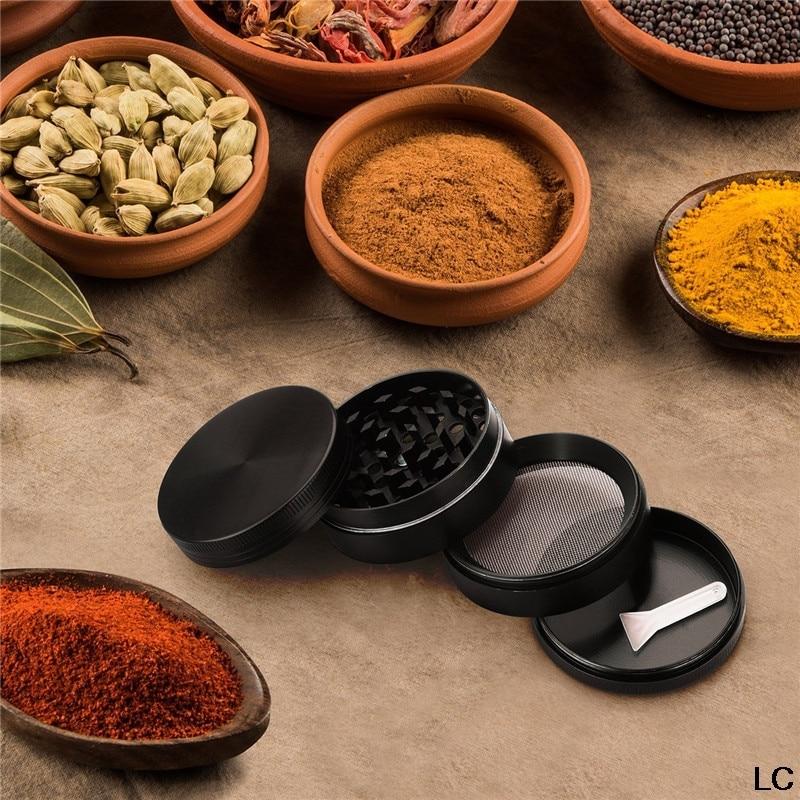 4 Layers Spice Herb Grinder Metal Crusher Tobacco Grinder Herb Made Pollen mills Restaurants household Kitchen Cooking Tools