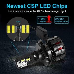 Image 2 - 2 Chiếc H1 H4 LED H7 Xi Nhan Canbus H11 H3 HB3 9005 HB4 9006 Đèn LED Xe Hơi Ô Tô Bóng Đèn Pha H7 Mini 10000LM 6000K Tự Động Đèn Pha LED 100W/55W 12V 24V