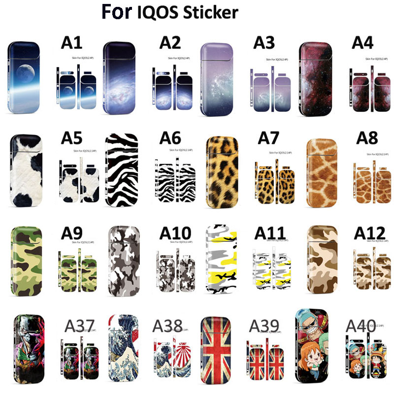 Colorful Sticker For IQOS For IQOS 2.4 Plus Universal 3M Printing Protective Skin Decals Stickers(China)