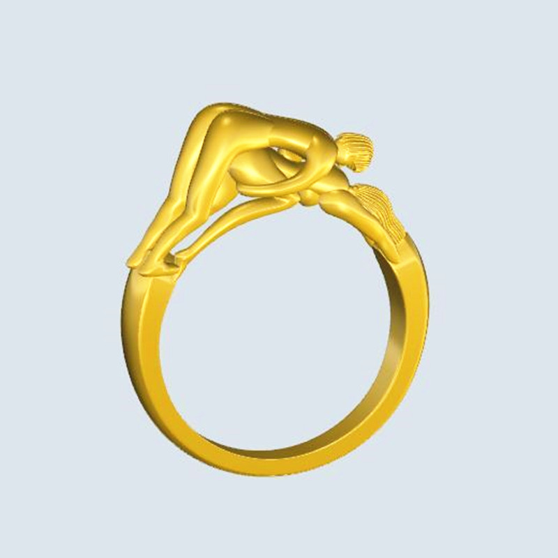 Atlantic to restore ancient ways jewelry ring the three-dimensional erotic male and female sex ring couples wedding gift