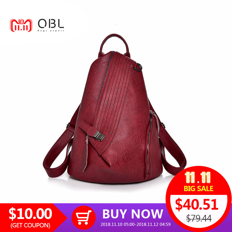 Hot-Sale Fashion PU Women Backpacks Leisure Shopping Scene Shoulder Bags Solid Zipper Softback Zipper Backpack zipper front pu backpack with convertible strap