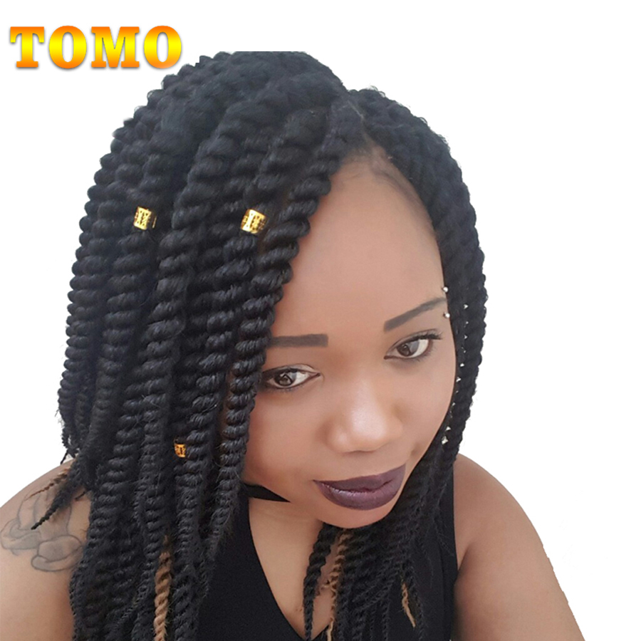 """TOMO 12"""" 18""""12Roots/Pack Senegalese Twist Crotchet Hair"""