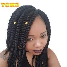 TOMO 12″ 18″12Roots/Pack Senegalese Twist Crotchet Hair Extensions 1Pack/Lot Kanekalon Synthetic Hair Crochet Braids 18 Colors