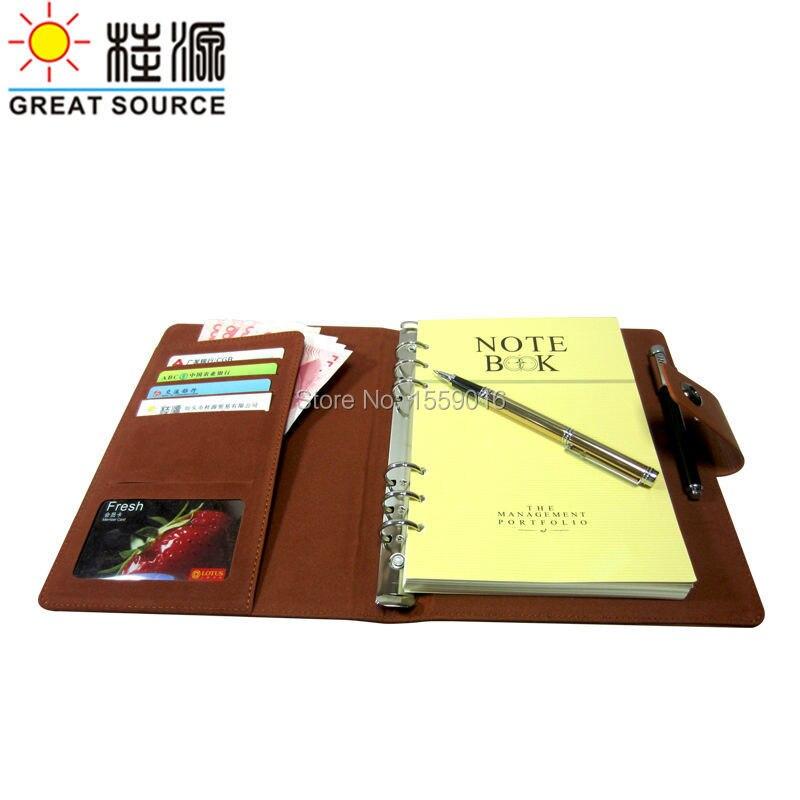 Дневник А5 записная книжка планировщик дня модный 6 колец переплет планировщик блокнот с календарем прозрачная ручка сумка цветные наклейки линейка