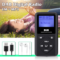 1.8inch Portable DAB/DAB+ Digital Radio Receiver Bluetooth MP3 Player Support TF Card Outdoor Calling hands free With Earphone