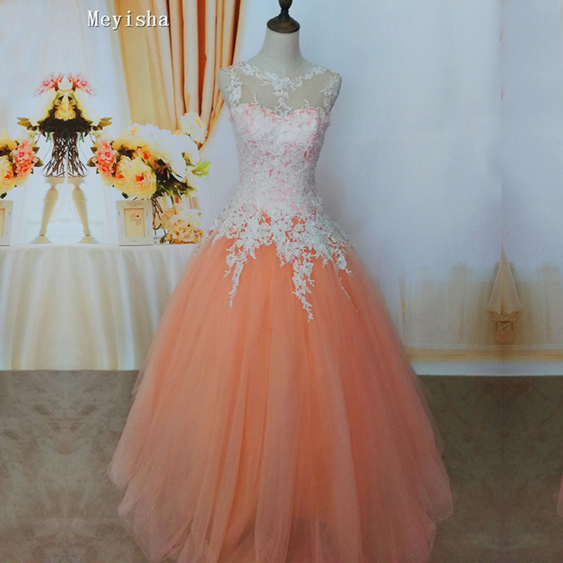 Orange and white wedding dresses wedding ideas for Pink and orange wedding dresses