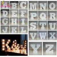 Wit Houten Letters LED Light Indoor Muur 6 inch Alfabet LIEFDE Bruiloft Verjaardag Vakantie Decoratie Event Ornament