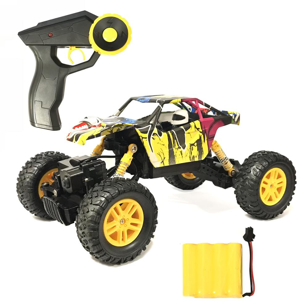 Image 2 - Remote Control Car 2.4GHz 4WD Off Road High Speed RC Car 1/18 Dual Motors Rock Crawler Graffiti Racing Monster Truck-in RC Cars from Toys & Hobbies