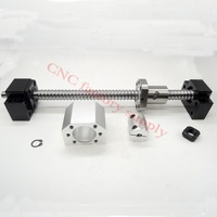 SFU1605 Set SFU1605 L500mm Rolled Ball Screw C7 With End Machined 1605 Ball Nut Nut Housing