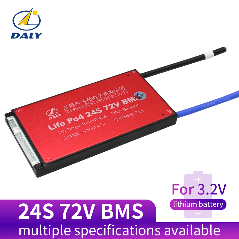 Daly 24S BMS 72V LiFePO4 Battery Management System BMS 25A 35A 45A 60A With Low Current For Lithium Battery