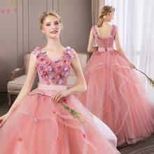 Романтическое Пышное Платье новинка 2019 бальное платье с цветочной
