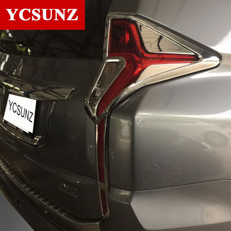 2016-2017 For Mitsubishi Pajero Sport Accessories Chrome Rear Lights Cover For Mitsubishi Montero Pajero Sport Parts Ycsunz 2003 2008 year for mitsubishi pajero sport montero sport nativa pajero dakar led tail lamp rear light all smoke black color sn