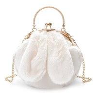 Pelican Nuevo diseño Mujeres Bolso Lindo amor Conejo Bolso de Embragues Blogger de Moda femenina bolsas de Hombro Redondo para las niñas Dulces Suave felpa