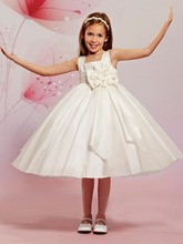 Pageant ball gowns for girls 2015 scoop vintage satin flower girl kids dream dresses weddings robe fille mariage GY_006