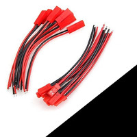 JST Wire Connector Plug Cable 10pcs Male and 10pcs Female 100mm / 150mm for RC Battery