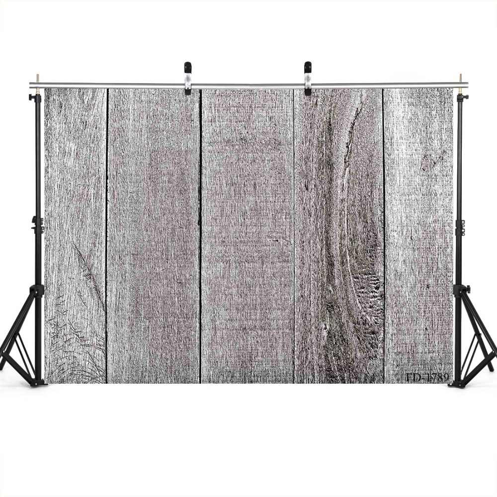 Wooden Board Photography Background Gray Backdrop Portrait For Photograph Accessories Vinyl Cloth Printed Backdrops Photo Studio