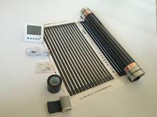М 3 квадратных метров 50 см * 6 М Инфракрасная нагревательная пленка с термостатом и зажимами (8 шт.) и изоляционная мазня и черный кран