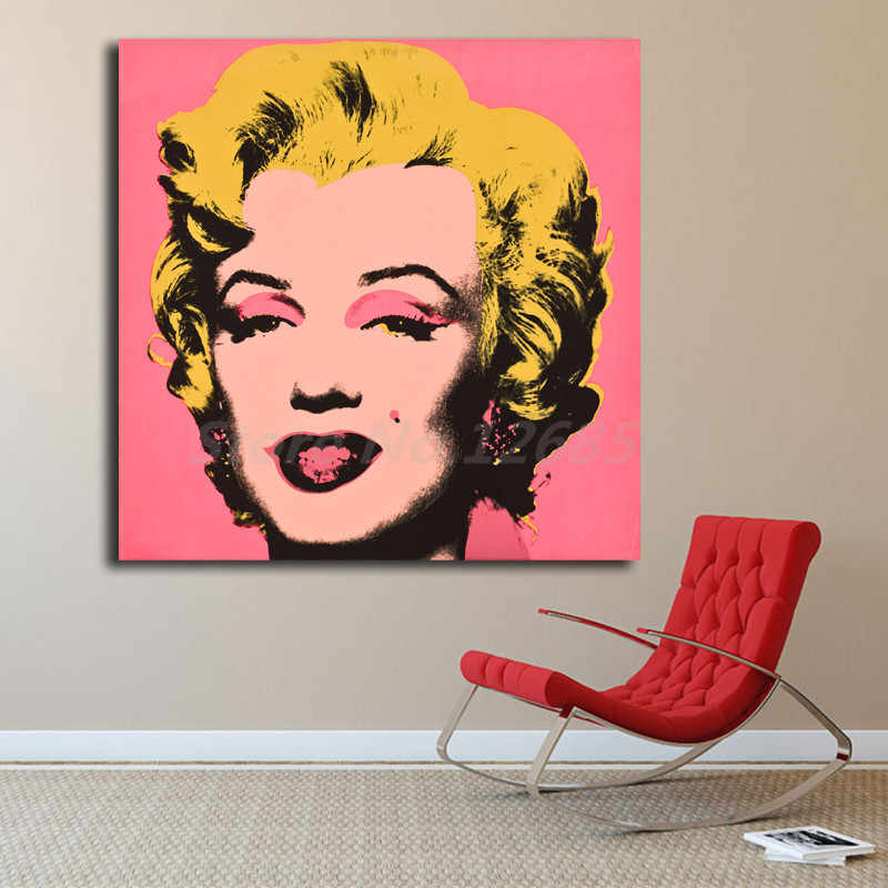 Marilyn Monroe Portrait By Andy Warhol Canvas Painting Print Living Room Home Decor Modern Wall Art Oil Painting Poster Artwork