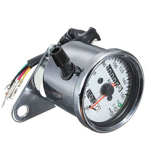 EE support  Universal Motorcycle Accessories Dual Odometer Speedometer Speed Gauge LED Backlight Car Styling XY01